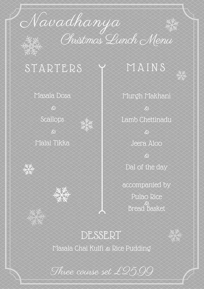 Lunch Menu Christmas
